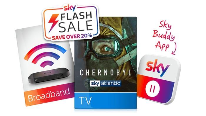 Save over 20% with Sky TV & Broadband Together