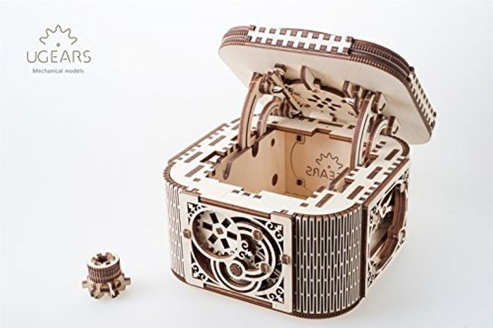 UGears 70031 Treasure Box 3D Wooden Kit without Glue