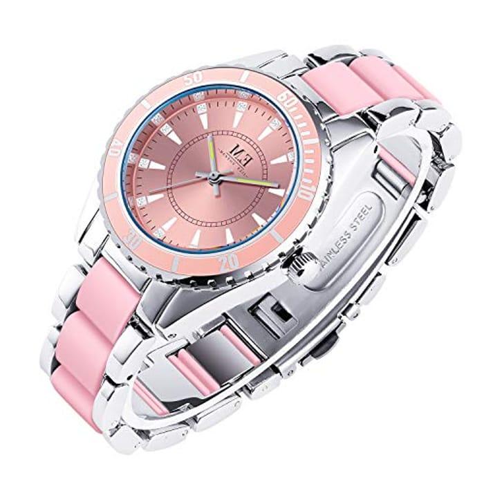 Womens Quartz Rose Gold Wrist Watch