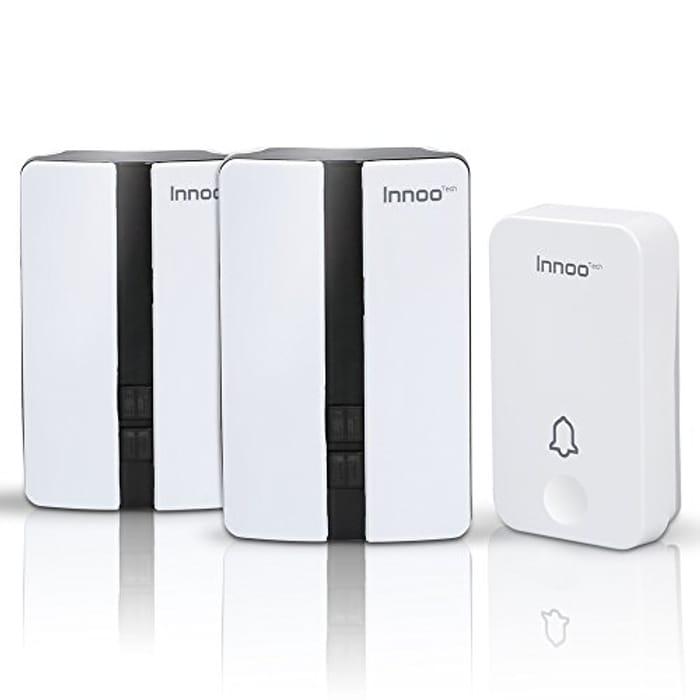 No Battery Required Wireless Doorbells, Innoo Tech Weatherproof Door Chime