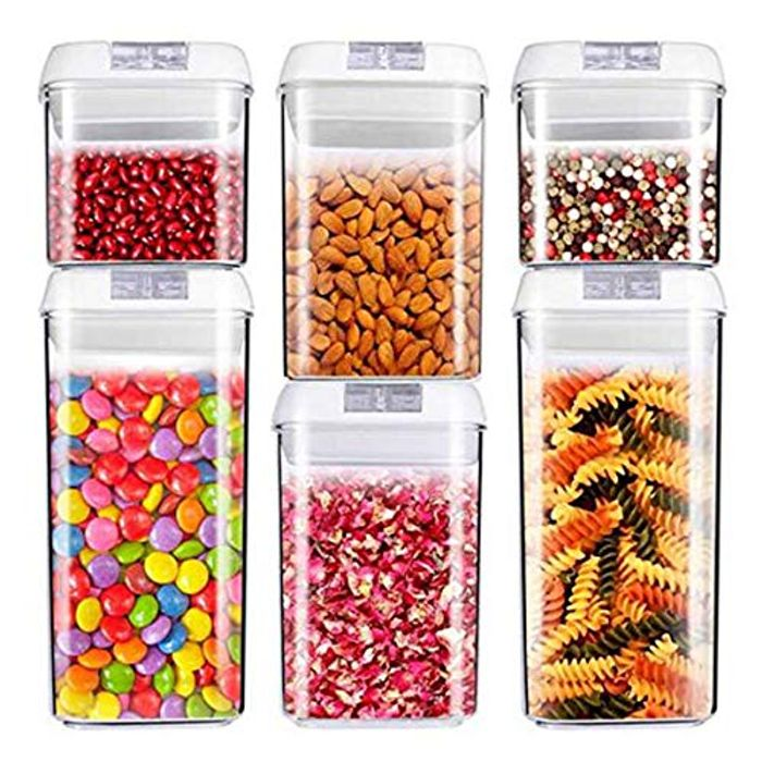 Air-Tight Food Storage Container Set [6-Piece Set]