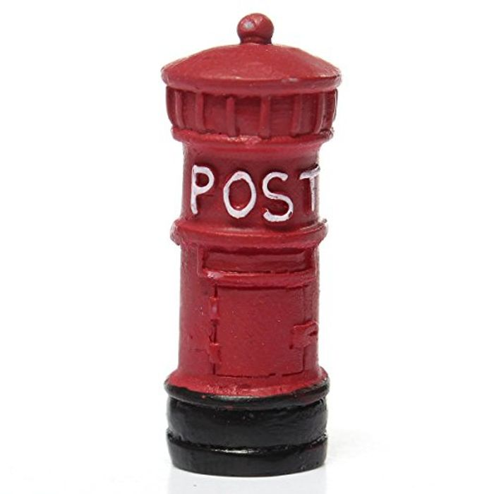 KINGSO Miniature Retro Postbox Craft Dollhouse Decor