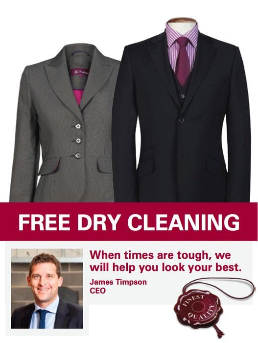 Free Dry Cleaning for Interviews