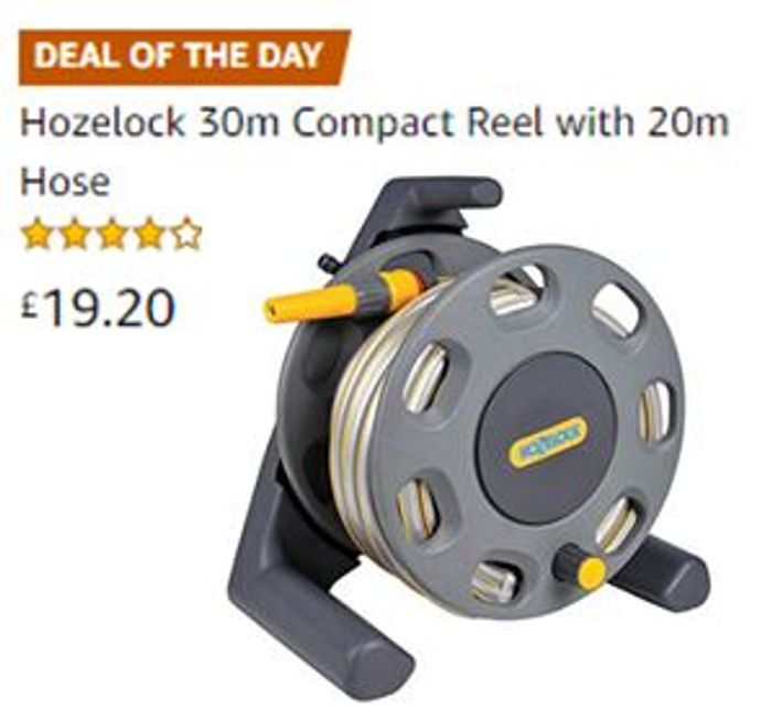 Amazon Deal of the Day: Hozelock 30m Compact Reel with 20m Hose