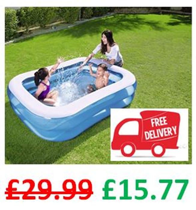 ALMOST 1/2 PRICE & FREE DELIVERY Bestway Paddling Pool - 2m X 1.5m