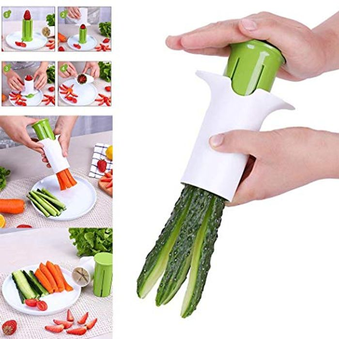 LIOPIO Kitchen Carrot Strawberry Slicer Cucumber Cutter Daily Useful Cooking