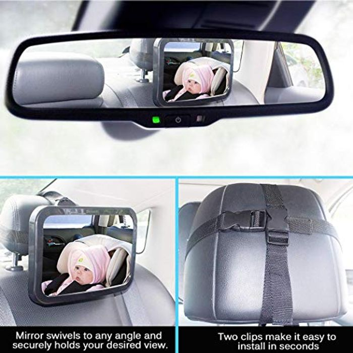 Profer Durable Practical Shatterproof Baby Car Mirror Safety Car Seat Mirror