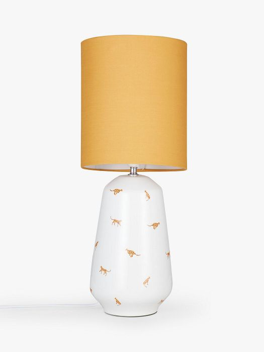 House by John Lewis Cheetah Table Lamp, Mustard 5 Year Guarantee Included