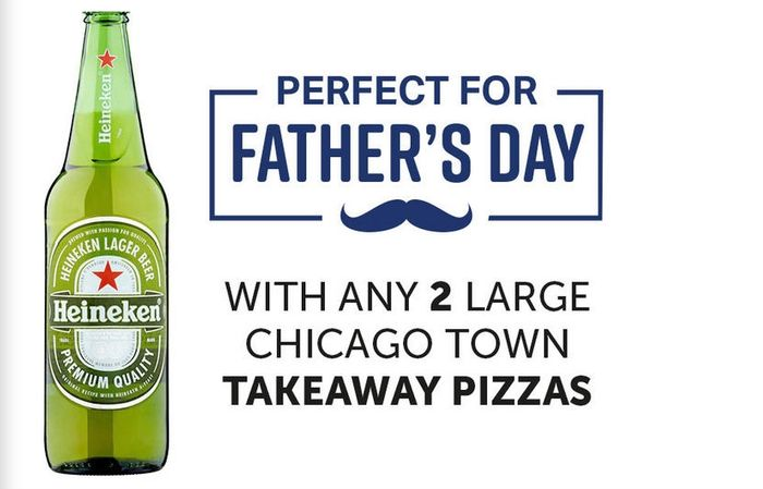 Heineken for Free at Iceland with 2 Pizza £6 Deal