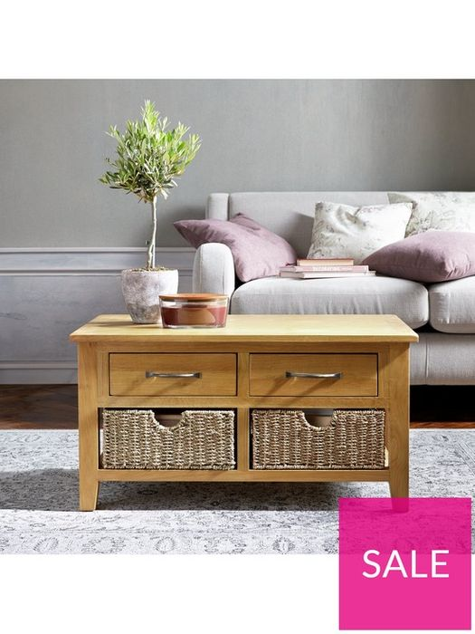 *SAVE £130* Luxe Collection - London Seagrass Oak Coffee Table