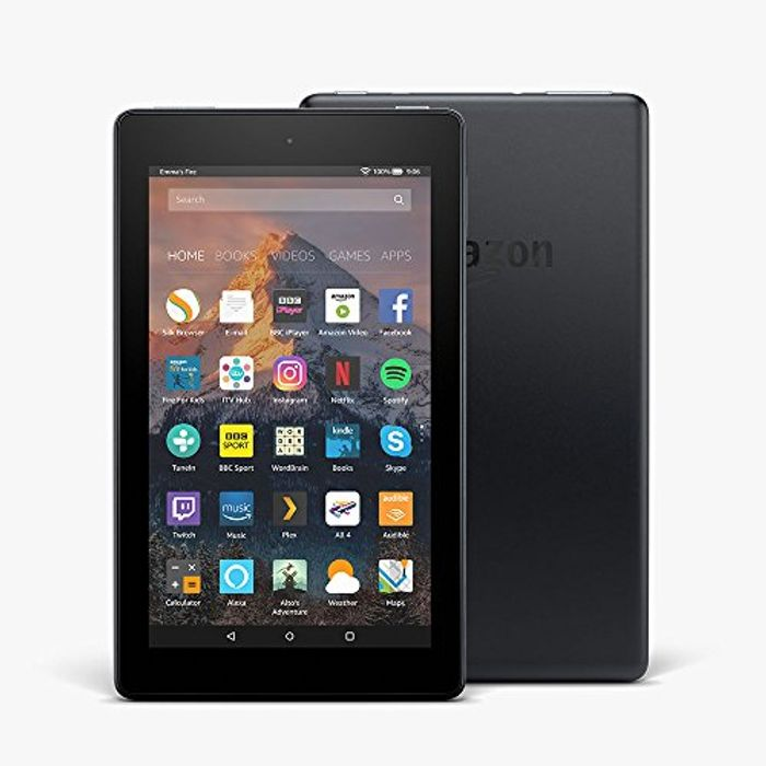"""Certified Refurbished Fire 7 Tablet with Alexa, 7"""" Display, 8 GB, Black"""