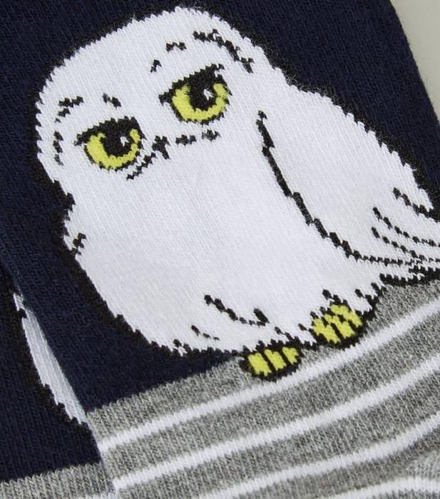 Navy Harry Potter Hedwig Owl Stripe Socks