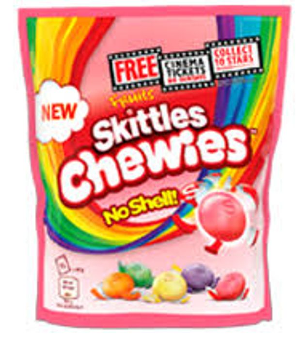 Large Bags Skittles or Opal Fruits. Buy 2 and Get a Free Cinema Ticket