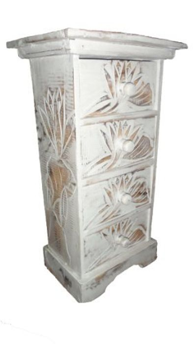 Best Price Chest of drawers hand carved with Lotus flower design