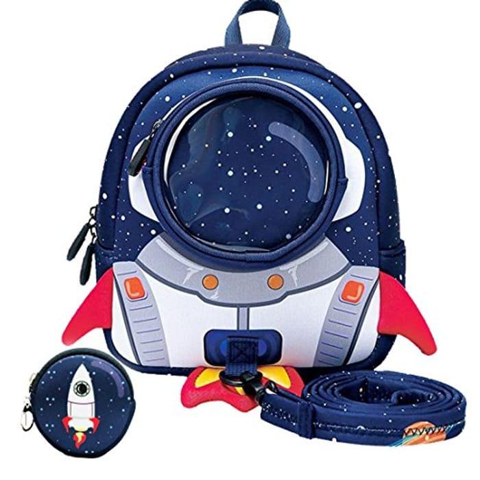 Yisibo 3D Cartoon Kids Dinosaur/Rocket Backpack Blue