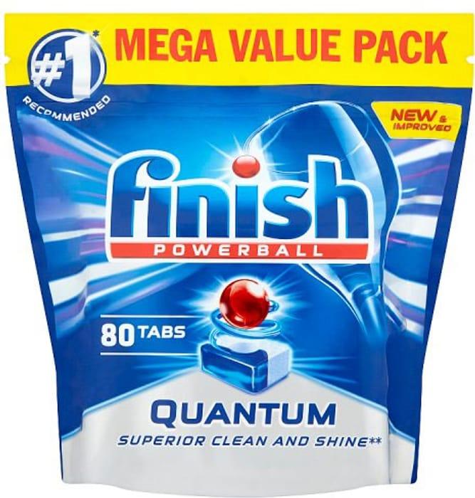80 Pack Finish Quantum Max Dishwasher Tablets Original Scent
