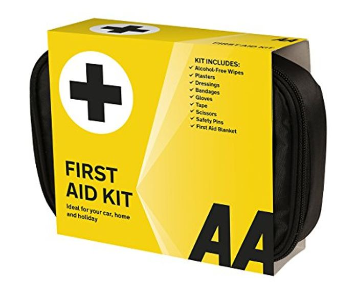 SAVE £3 AA Soft Pouch FIRST AID KIT for Car, Home, or Holiday **4.6 STARS**