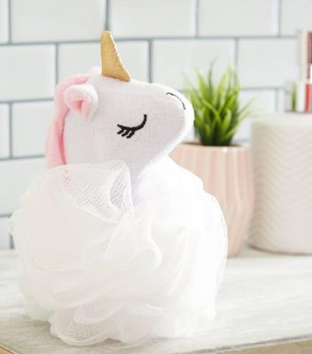 White Unicorn Bath Loofah save £1.99