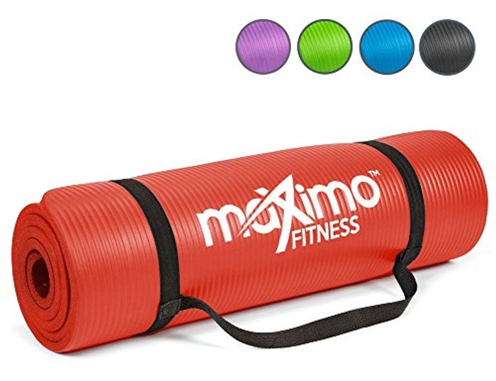 Maximo Exercise Mat NBR Fitness Mat - Multi Purpose - 183 X 60 X 1.2 Cm