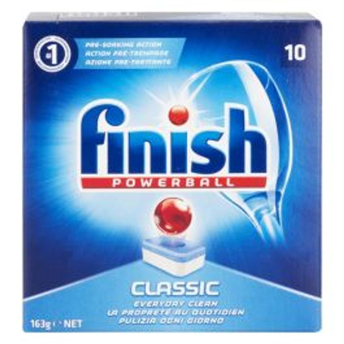 Finish Classic Powerball Dishwasher Tablets 10 Pack 3 for £1