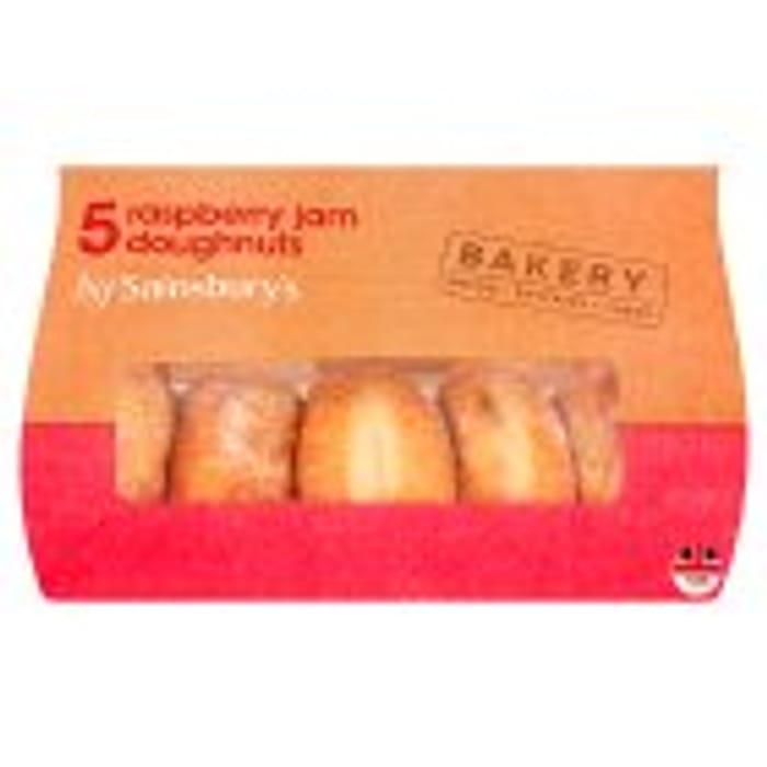 Sainsburys 5pk Doughnuts, Jam, Custard or Ring