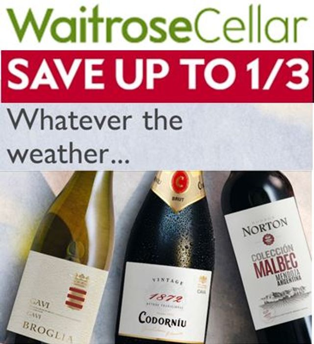 Waitose WINE CELLAR - save 1/3 OFFERS