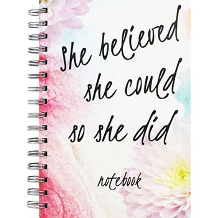 A5 Wiro She Believed She Could so She Did Notebook