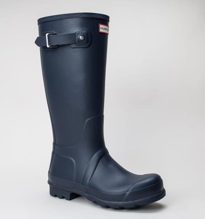 Hunter Mens Original Tall Navy Boots / Wellington Boots 38%off at tReds Online