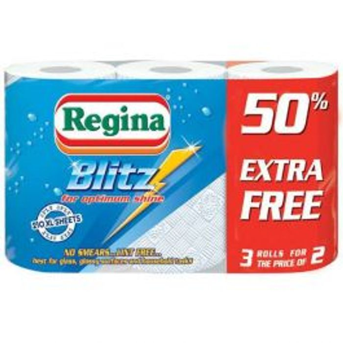Regina Blitz 210 Sheet Kitchen Roll 3 Pack