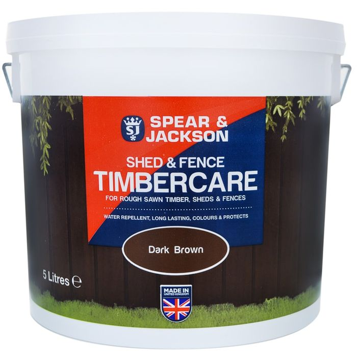 Spear & Jackson Shed & Fence Timbercare 5L - Choice of 2 Colours