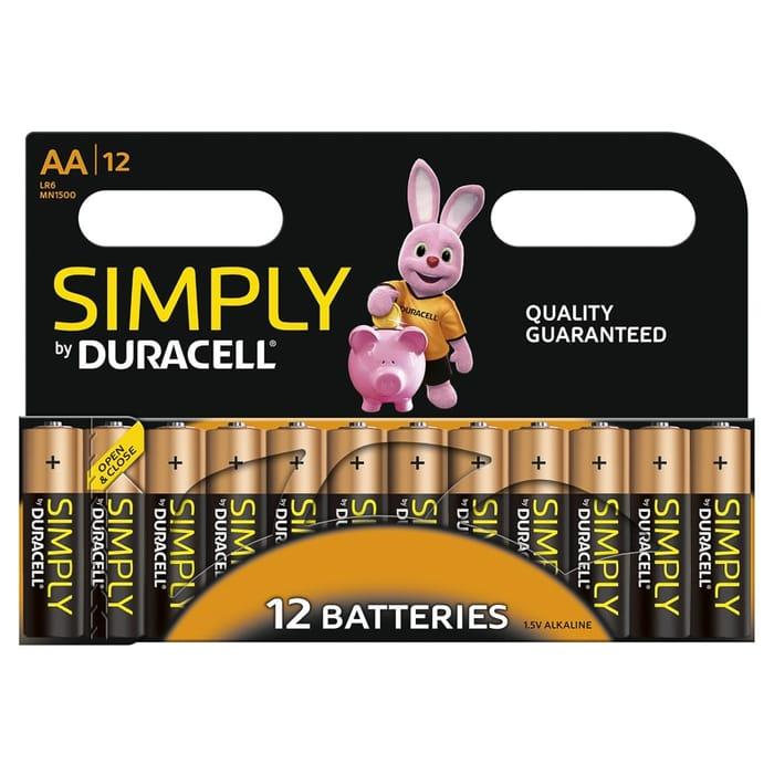 Duracell AA or AAA Alkaline Batteries 12pk 2 Packs £8