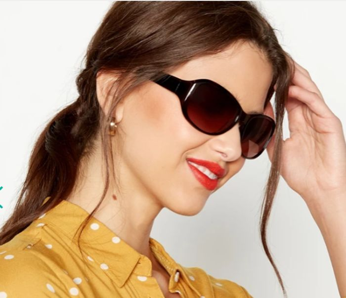 Beach Collection - Brown Rectangle Sunglasses