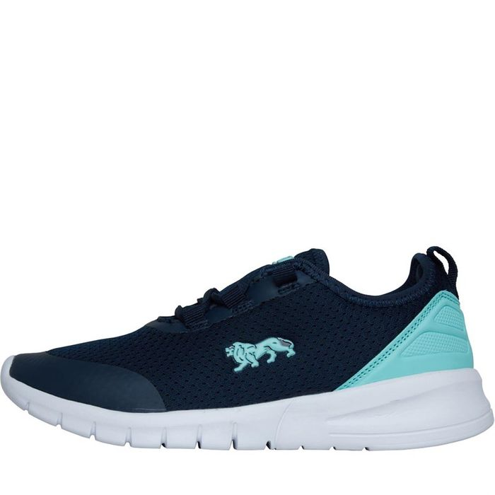Lonsdale Womens Zambia Trainers Navy/Mint Sizes 3/4/5