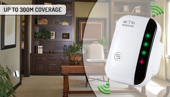 Portable Wireless Wi-Fi Signal Booster - 1 or 2
