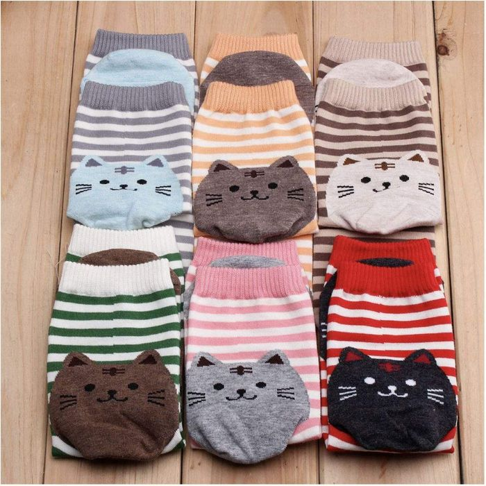 Cotton Cat Socks - 6 or 12 Pairs
