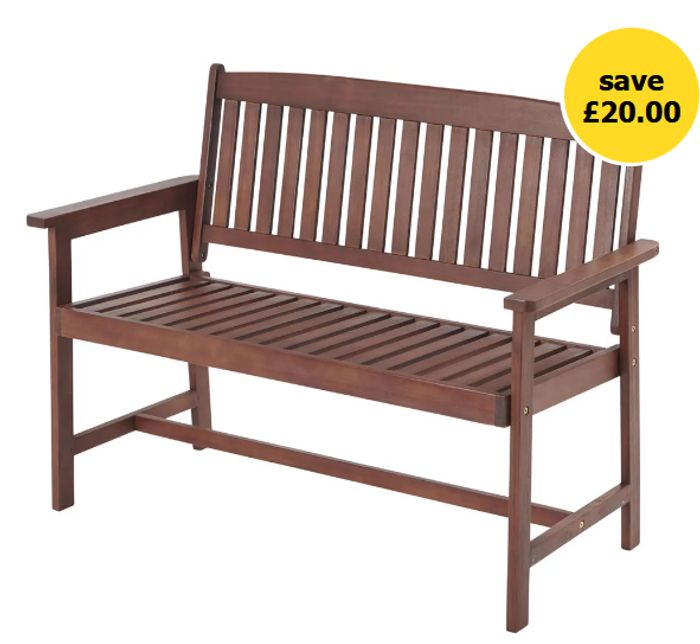 Wilko FSC Wooden Bench - SAVE £20!