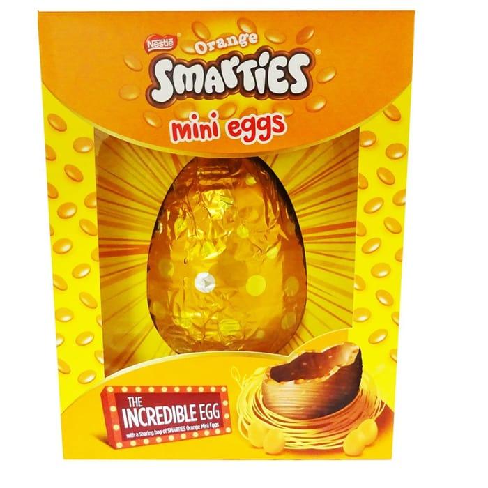 Smarties Orange Easter Egg Mini Eggs 480g Only £1.99 at Fulton Foods