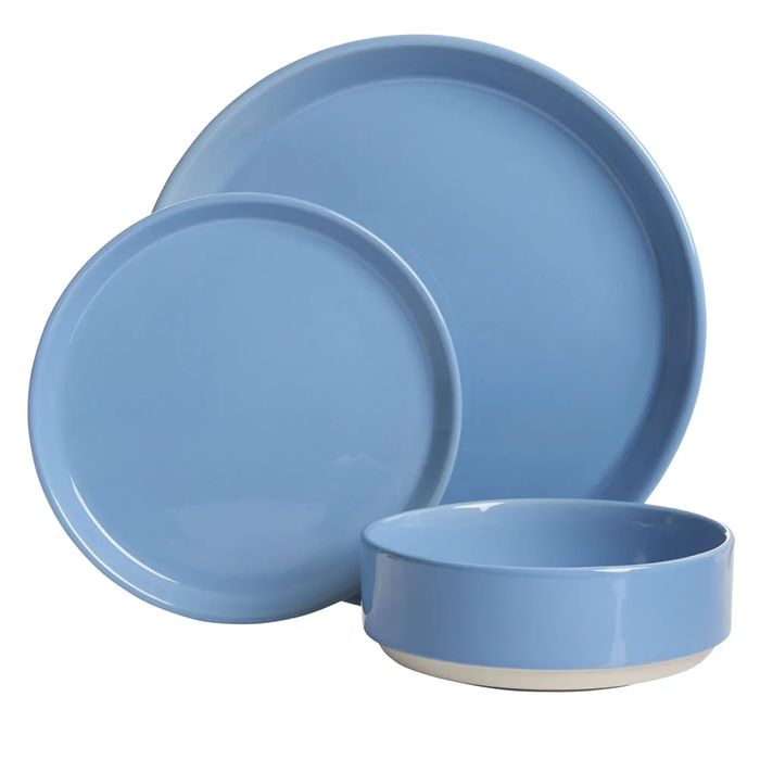 Wilko 12 Piece Blue Dipped Dinner Set