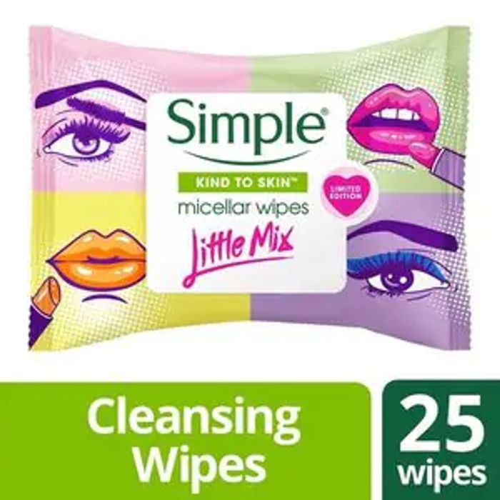 Simple X Little Mix Micellar Wipes 25s