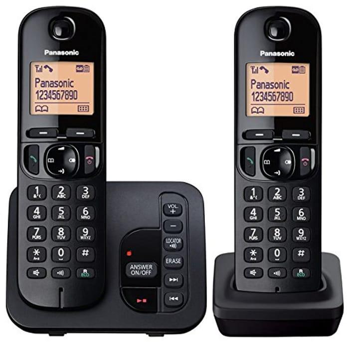 Panasonic KX-TGC222EB Digital Cordless Phone with LCD Display