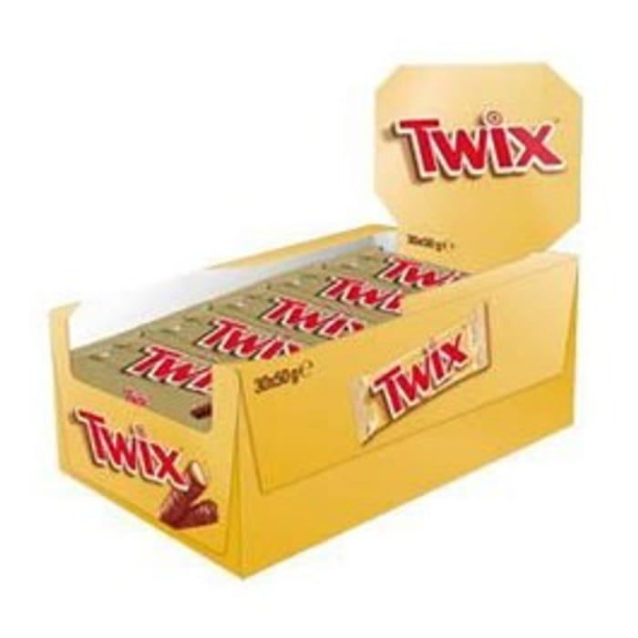 CASE OF 30 Twix Chocolates (30x50g) at Cutpricebarrys