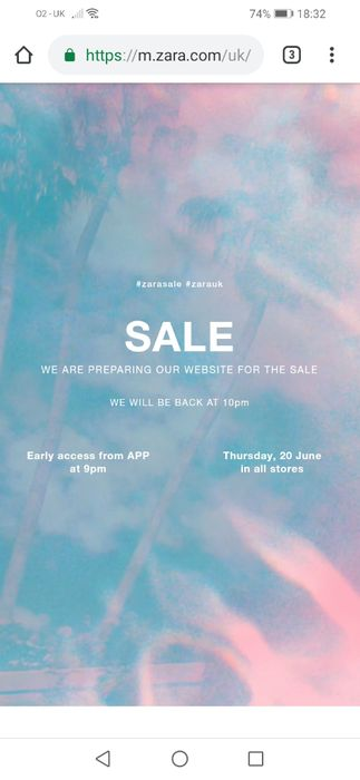Zara Sale Starts Tonight