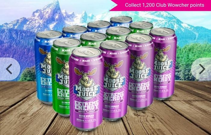12 X 500ml Moose Juice Energy Drinks - 3 Flavours!