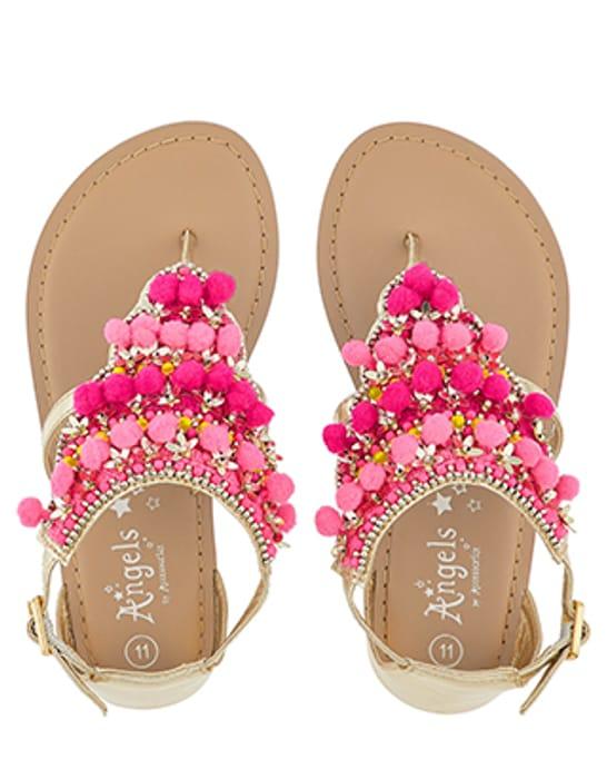 Little Senorita Pom Pom Sandals