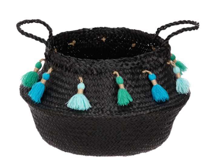 John Lewis & Partners Fusion Seagrass Basket with Tassles