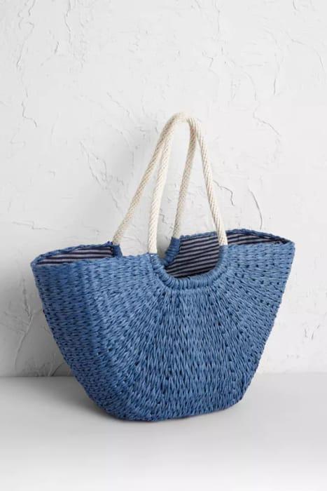 100% Paper Texture Basket Bag - SAVE £16.95