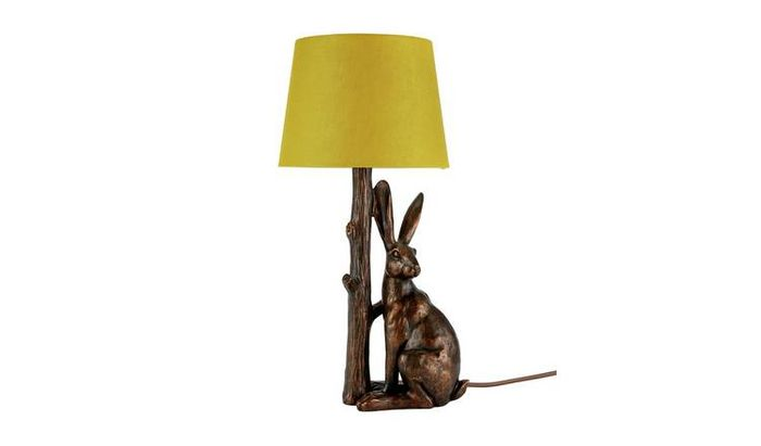 Sainsburys Hare Lamp with Ochre Shade