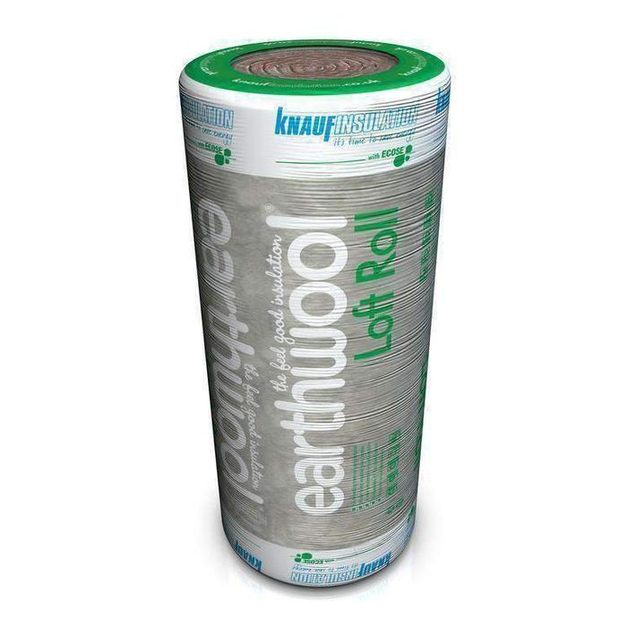 100mm Thick Loft Insulation by Knauf Earthwool - Large 8.3m2 Pack.
