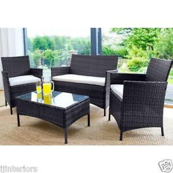 Super Rattan Garden Furniture 4 Seat Set Inc Coffee Table Download Free Architecture Designs Parabritishbridgeorg