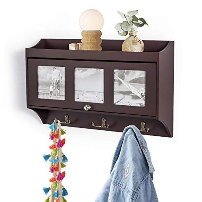 Wall Coat Rack Display Storage Unit